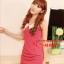 SALE//SALE (ส่งฟรี) ชุดเดรส สไตล์เกาหลี สีชมพูโรส คอปกสีขาว มีซิปด้านข้าง เข้ารูปทรงสวยมากค่ะ thumbnail 3