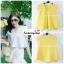 เสื้อแฟชั่นผ้าฮานาโกะ เสื้อทำงาน สีเหลือง คอวี ชายเสื้อพริ้ว สวยหวาน สินค้าคุณภาพ ราคาไม่แพง thumbnail 2