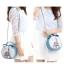 (หมดจ้า) กระเป๋า Axixi ทรงกลม สีฟ้า ภาพพิมพ์หอไอเฟล ซิปเป็นรูปโบว์ด้านบนน่ารักๆ มีสายสะพายสีทอง thumbnail 2