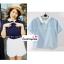 เสื้อแฟชั่น เสื้อทำงาน ผ้าฮานาโกะ สีกรมท่า คอปกเก๋ๆ แบบยอดนิยม สินค้าคุณภาพ ราคาไม่แพง thumbnail 4