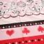 คอตตอนญี่ปุ่น ลาย Alice In Wonderland แนวเทพนิยายโทน ชมพู - แดง ขายที่ 1/2 เมตรเป็นต้นไป เหมาะสำหรับงานผ้าทุกชนิด ตัด กระโปรง ทำกระเป๋า ปลอกหมอน และอื่นๆ thumbnail 3