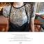 SALE//SALE (ส่งฟรี) เสื้อยืดคอกลม ลายกราฟฟิกทั้งตัว สีเทา เก๋ๆ กุ้นขอบคอและแขนสีดำ สไตล์เกาหลี thumbnail 4