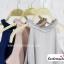 เสื้อแฟชั่นสวยๆ เสื้อทำงาน ผ้าฮานาโกะ สีเทา คอถักเปีย แบบยอดนิยม สวยน่ารักมากๆค่า thumbnail 9