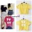 เสื้อแฟชั่น ผ้าฮานาโกะ สีเหลือง แบบน่ารักๆ มีโบว์ด้านหลัง เนื้อผ้านิ่ม อยู่ทรง ไม่ยับง่าย ใส่สบาย สินค้าคุณภาพ ราคาไม่แพง thumbnail 2