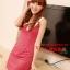 SALE//SALE (ส่งฟรี) ชุดเดรส สไตล์เกาหลี สีชมพูโรส คอปกสีขาว มีซิปด้านข้าง เข้ารูปทรงสวยมากค่ะ thumbnail 14