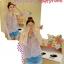 (หมดจ้า) เสื้อซีฟอง ลายดอกไม้ แต่งระบายช่วงอก สวยหวานมากจ้า thumbnail 3