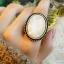 (หมดจ้า) แหวนวินเทจ คริสตัลตัดเหลี่ยมสีขาว มีกลิตเตอร์ให้ประกายแวววับสวยหรู ตัวแหวนปรับขนาดได้ค่ะ thumbnail 1