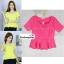 เสื้อแฟชั่น เสื้อทำงาน ผ้าฮานาโกะ สีชมพูเข้ม ดีไซน์สวยเรียบหรู สินค้าคุณภาพ ราคาไม่แพง thumbnail 6
