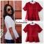 เสื้อแฟชั่น สีแดง ผ้าฮานาโกะ ทรงสวย เนื้อผ้านิ่ม อยู่ทรง ไม่ยับง่าย ใส่สบาย สินค้าคุณภาพ ราคาไม่แพง thumbnail 2