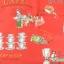 ผ้าคอตตอนญี่ปุ่น ลายอาหารสไตล์วินเทจ สีแดง ของ Yuwa Life Collection เนื้อบาง thumbnail 1