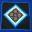 ปลอกหมอน,ปลอกหมอนอิงสีน้ำเงิน ปักลายดอกโทนสีน้ำเงินชมพู ขนาด 16X16 นิ้ว thumbnail 1