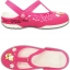 W7 (24 cm.) : Crocs Carlie Hello Kitty Flower Mary Jane - Fuchsia / White ของแท้ Outlet ไทยและอเมริกา thumbnail 2