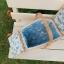 ตระกร้าสานปิคนิก ทำจากผ้าญี่ปุ่น มีผ้าบุด้านใน ใช้ใส่ของจุกจิก น่ารักที่สุด ขนาด thumbnail 2