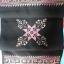ผ้าพันคอ ปักลายสีโทนม่วงอ่อนพื้นสีดำ สีสดใส ขนาด ยาว 48x8.5 นิ้ว thumbnail 4