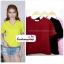 เสื้อแฟชั่น ผ้าฮานาโกะ สีชมพู คอวีพับแขนเก๋ๆ สินค้าคุณภาพ ราคาไม่แพง thumbnail 2