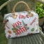 กระเป๋าผ้าญี่ปุ่น ทรงสะพายช้าง สายหนังแท้ ปรับความยาวได้ (สินค้าฝากขาย ไม่บวกเพิ่ม ) thumbnail 3