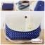 (หมดจ้า) กระเป๋าผ้า แฮนด์เมด ญี่ปุ่น สีน้ำเงินลายจุด สายสะพายไหล่ มีช่องใส่ด้านในหลายช่อง สวยน่ารักๆค่ะ thumbnail 1