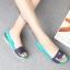 W6 (23.5 cm.) : Crocs ColorBlock Flat - Tropical Teal / Nautical Navy ของแท้ Outlet ไทยและอเมริกา thumbnail 3