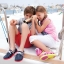 J5 (24 cm.) : Crocs Kids Beach Line Boat Shoe - Fuchsia / White ของแท้ Outlet ไทยและอเมริกา thumbnail 3
