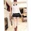 หมดค่ะ SALE//SALE (ส่งฟรี) เสื้อแฟชั่นเกาหลี คัตติ้งสวยเนียบเข้ารูป สีขาว มีซิปด้านหลังใส่ง่าย เนื้อผ้าหนานุ่ม แต่งคอปกสีดำเก๋ๆ thumbnail 3