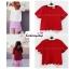 เสื้อแฟชั่น สีแดง ผ้าฮานาโกะ ทรงสวย แบบน่ารักๆ เป็นหยักๆช่วงเอวและแขน เนื้อผ้านิ่ม อยู่ทรง ไม่ยับง่าย ใส่สบาย สินค้าคุณภาพ ราคาไม่แพง สำเนา thumbnail 2