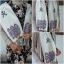 ผ้าพันคอลายปัก โทนสีม่วงอ่อน ปักแซม สามดอก thumbnail 1