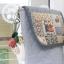 กระเป๋าสะพาย สายหนัง ควิลล์มือทั้งใบ ขนาด กว้าง 20 ซม สูง 25 ซม thumbnail 2