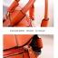 กระเป๋าแฟชั่น ดีไซน์สวยเรียบหรู สีส้ม คลาสสิค แบบยอดนิยม เหมาะกับทุกโอกาส สามารถถือและสะพายได้ทั้งสองแบบ ((โปรโมชั่นส่งฟรี)) thumbnail 6