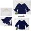 เสื้อแฟชั่น เสื้อทำงาน ผ้าฮานาโกะ สีขาว แขนกระดิ่งสามส่วน แบบสวยเรียบหรู สินค้าคุณภาพ ราคาไม่แพง thumbnail 10