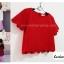 เสื้อแฟชั่น สีแดง ผ้าฮานาโกะ ทรงสวย แบบน่ารักๆ เป็นหยักๆช่วงเอวและแขน เนื้อผ้านิ่ม อยู่ทรง ไม่ยับง่าย ใส่สบาย สินค้าคุณภาพ ราคาไม่แพง สำเนา thumbnail 3