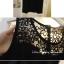 SALE//SALE (ส่งฟรี) ชุดเดรส สไตล์ เกาหลี แขนกุด สีดำ ทรงสวย ตัดแต่ง ผ้าตาข่าย ลายดอกไม้ ช่วงไหล่ มีซิป ด้านหลัง เนื้อผ้านุ่ม ไม่บาง ตัดเย็บคุณภาพดีจ้า thumbnail 4
