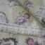 ผ้าคอตตอนลินิน ญี่ปุ่น รุ่น Vintage Collage ลายป้ายกุหลาบสีเขียวอ่อน thumbnail 2