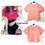 เสื้อแฟชั่น สีโอรส ผ้าฮานาโกะ ทรงสวย แบบน่ารักๆ เนื้อผ้านิ่ม อยู่ทรงไม่ยับง่าย ใส่สบาย สินค้าคุณภาพ ราคาไม่แพง thumbnail 2