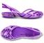 J6 : Crocs Kids Huarache Slingback Flat Girls J - Iris / Neon Purple ของแท้ Outlet ไทยและอเมริกา thumbnail 2