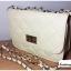 (หมดจ้า) กระเป๋าแฟชั่น สีขาว หนัง PU ลาย Chanel ชาเนล สายโซ่สะพายไหล่ ปรับความยาวได้ แบบยอดนิยม ((โปรโมชั่นส่งฟรี)) thumbnail 4