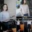 เสื้อผ้าแฟชั่น เสื้อทำงานสีดำ สไตล์เกาหลี คอวี แขนสามส่วน ผ้าฮานาโกะ แบบสวยเรียบหรู ใส่ได้ทุกโอกาส คุณภาพดี ราคาไม่แพง thumbnail 4