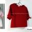 เสื้อแฟชั่นผ้าฮานาโกะ เสื้อทำงาน สีแดง แขนสามส่วนแต่งโบว์ น่ารักมากๆ สินค้าคุณภาพดี ราคาไม่แพง thumbnail 3