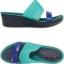 W6 (23.5 cm.) : Crocs Colorblock Mini Wedge - Tropical Teal / Nautical Navy ของแท้ Outlet ไทยและอเมริกา thumbnail 2