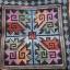 ผ้าปักคลุมหัวเจ้าสาว ลายโบราณ ผืนสี่เหลี่ยมสีโทนฟ้า thumbnail 3