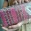 กระเป๋าใส่ธนบัตร แบบซิปโทนสีชมพู มีช่องใส่หลายช่อง thumbnail 2
