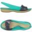 W6 (23.5 cm.) : Crocs ColorBlock Flat - Tropical Teal / Nautical Navy ของแท้ Outlet ไทยและอเมริกา thumbnail 2
