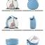 (หมดจ้า) กระเป๋า Axixi ทรงกลม สีฟ้า ภาพพิมพ์หอไอเฟล ซิปเป็นรูปโบว์ด้านบนน่ารักๆ มีสายสะพายสีทอง thumbnail 4