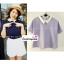 เสื้อแฟชั่น เสื้อทำงาน ผ้าฮานาโกะ สีกรมท่า คอปกเก๋ๆ แบบยอดนิยม สินค้าคุณภาพ ราคาไม่แพง thumbnail 3