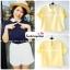 เสื้อแฟชั่น เสื้อทำงาน ผ้าฮานาโกะ สีเหลือง พาสเทล สดใส คอปกเก๋ๆ แบบยอดนิยม สินค้าคุณภาพ ราคาไม่แพง thumbnail 2