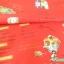 ผ้าคอตตอนญี่ปุ่น ลายอาหารสไตล์วินเทจ สีแดง ของ Yuwa Life Collection เนื้อบาง thumbnail 4