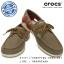 M7 (26 cm.) : Crocs Beach Line Lace-up Boat Shoe - Walnut / Stucco ของแท้ Outlet ไทยและอเมริกา thumbnail 1
