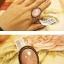 (หมดจ้า) แหวนวินเทจ คริสตัลตัดเหลี่ยมสีขาว มีกลิตเตอร์ให้ประกายแวววับสวยหรู ตัวแหวนปรับขนาดได้ค่ะ thumbnail 3
