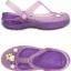 W6 (23 cm.) : Crocs Carlie Hello Kitty Flower Mary Jane - Iris / Neon Purple ของแท้ Outlet ไทยและอเมริกา thumbnail 2
