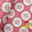 ผ้าฝ้ายญี่ปุ่นลายดอกุหลาบ โทนสีแดงสดใส น่ารักดีค่ะ คอตตอน 100% ตัดเสื้อได้ค่ะ thumbnail 2