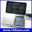 BAL090: เครื่องชั่งดิจิตอลพกพา เครื่องชั่งแบบพกพา Pocket Scale 1000g ความละเอียด0.1g 6IN1 Mini Digital Scale Calculator Clock Thermometer LCD Weigh thumbnail 1